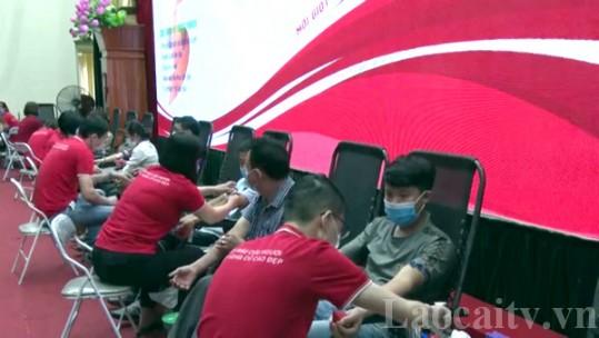 Ngày hội hiến máu tình nguyện huyện Văn Bàn tiếp nhận trên 400 đơn vị máu